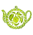 decorative ornament herbal teapot vector image vector image