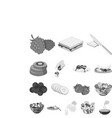 dessert fragrant monochrome icons in set vector image vector image
