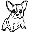 dog coloring page vector image vector image