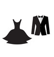 dress and suit icon isolated vector image vector image