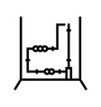 electrical wiring line icon vector image vector image