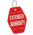 extended warranty label or price tag vector image vector image