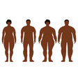 fat african men and women cartoon outline style vector image vector image