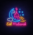 festive of eid mubarak label vector image vector image