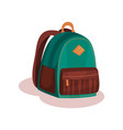 flat icon of small green school bag urban vector image