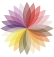 Flower color lotus silhouette for design vector image vector image