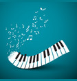 flying notes with abstract piano keyboard music vector image vector image