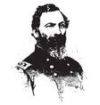 general john sedgwick vintage vector image vector image