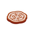gingerbread cookie traditional christmas food vector image vector image
