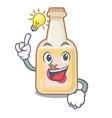 have an idea bottle apple cider above cartoon vector image vector image