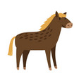 horse cute cartoon icon vector image
