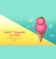 hot summer sale cartoon colorful ice cream vector image