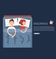 insomnia flat web banner design template vector image