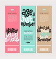 irreverent birthday web or print banners design vector image