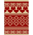 Knitted yarn swatch with slavic ornament vector image vector image