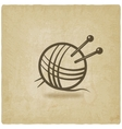 knitting symbol old background vector image vector image
