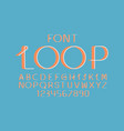 loop volume font alphabet vector image