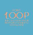 loop volume font alphabet vector image vector image