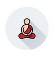 meditationicon on round background vector image vector image