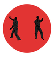 men are engaged in karate vector image vector image
