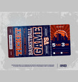 modern professional design basketball tickets vector image vector image