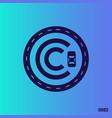 modern professional logo monograma c in blue theme vector image vector image