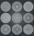 Monochromatic ethnic round textures