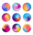 multicolored blurred circles blurred spheres with vector image