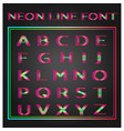 neon lines font vector image vector image