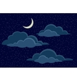 Night Sky with Clouds vector image