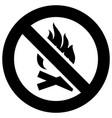no open fire flame forbidden sign modern round vector image