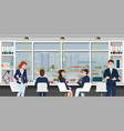 office workplace with business people vector image