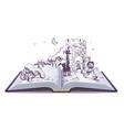 Open book tale of bremen musicians