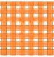 orange scotch pattern vector image