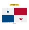 Panamanian grunge flag vector image vector image