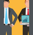 people business corporate work information vector image