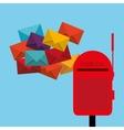 postal service design vector image