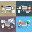 Print flat office vector image vector image
