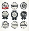 quality retro badge collection vector image vector image