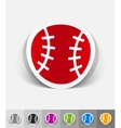 realistic design element baseball vector image