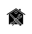 repairs black icon sign on isolated vector image