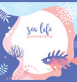 sea life abstract background design vector image vector image