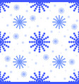 seamless pattern from falling blue snowflakes of vector image vector image