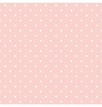 Seamless pattern white polka dots pink background vector image vector image