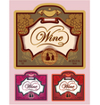 set labels for different kinds wine vector image vector image