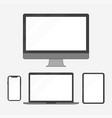 set of electronic devices in a flat style style vector image vector image