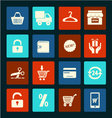 Shopping icons set - vector image vector image
