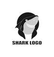 sinister shark smile shark vector image