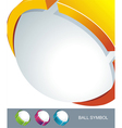 Sphere 3d design symbol vector image vector image