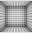 square futuristic room with shaded wall and subdiv vector image vector image